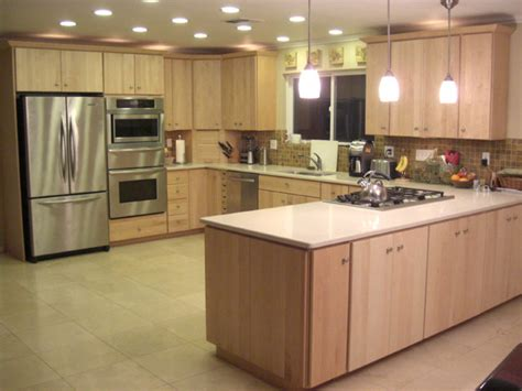 modern maple kitchen cabinets birch maple and bamboo