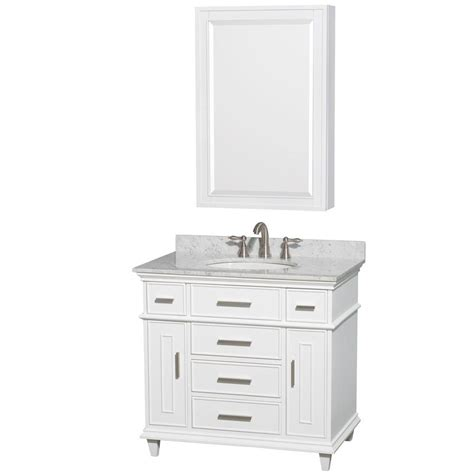What Size Medicine Cabinet For 36 Vanity Wyndham Collection Berkeley 36 In Vanity In White With