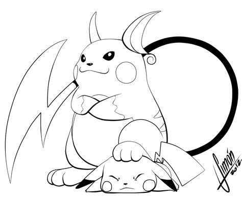 coloring pages pokemon roggenrola drawings pokemon raichu and pikachu ko by estanque on deviantart