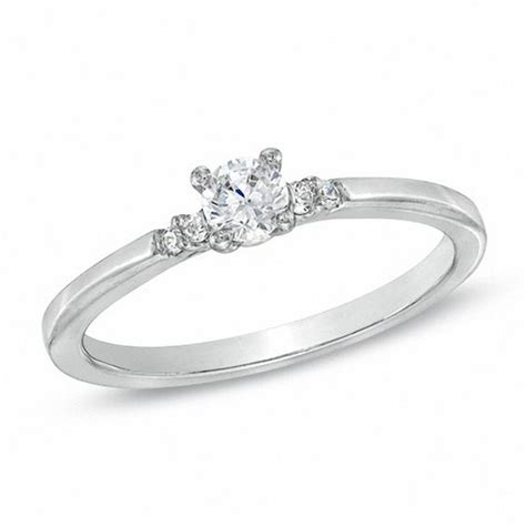 1 5 ct t w promise ring in 10k white gold