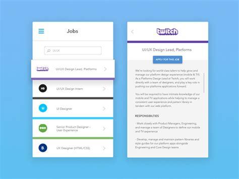 App Design Jobs   mobile app ui design gallery