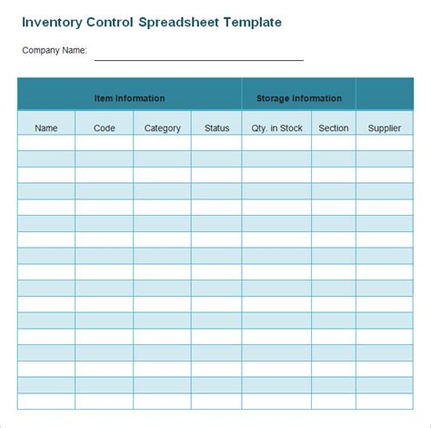 Inventory Spreadsheet Template Free by Image Gallery Inventory Template