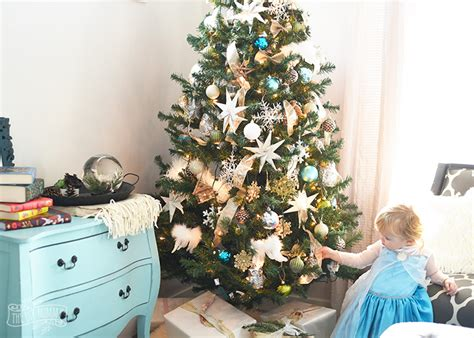 a rustic glam kid friendly christmas tree unique holiday
