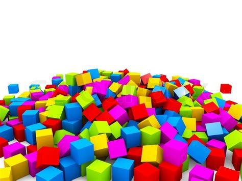 colorful cubes wallpaper 3d colorful cubes heap isolated on white background
