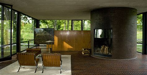 philip johnson glass house interior retro furniture the history behind the room schemes 1920