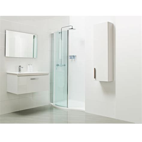 roman showers lumin8 wave walkin shower enclosure baker