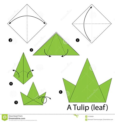 Origami Tulip Step By Step - origami origami tulip origami easy