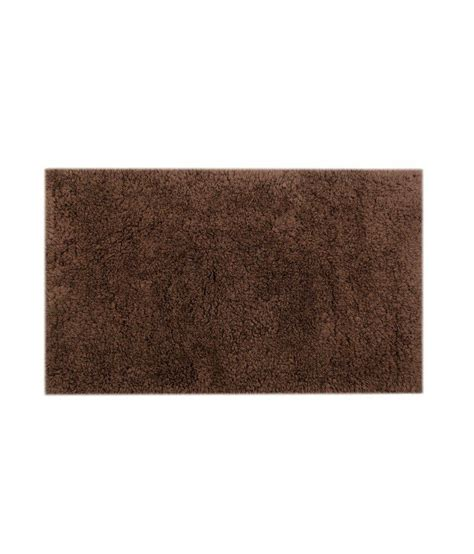 brown bath rugs homestrap mushy bath rug brown buy homestrap mushy bath rug brown at low price