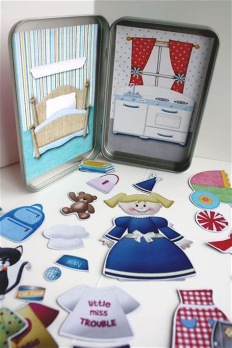 How To Make Magnetic Paper Dolls - paper dolls project by mamabee http www mesoscrappy