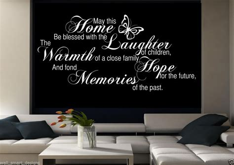 Modern Wall Art Stickers family memories wall art sticker room lounge quote decal