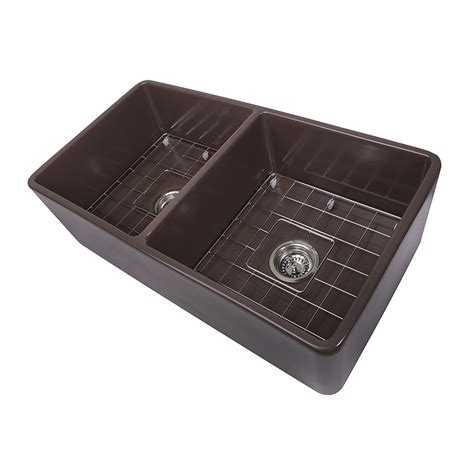 fireclay farmhouse sink 33 inch nantucket sinks 33 inch bowl coffee brown farmhouse
