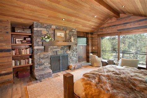awesome fireplaces  bookshelves vaulted ceiling built  shelves