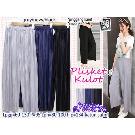 plisket kulot celana panjang muslim casual basic
