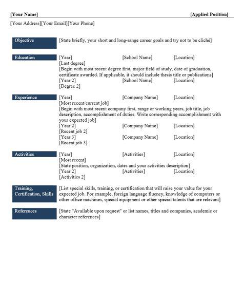 Contoh Surat Kronologis by Contoh Format Curriculum Vitae Yang Menarik Contoh Surat Org