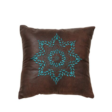 Embroidered Pillows by Turquoise Medallion Embroidered Pillow