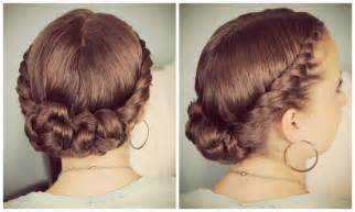 updo hairstyles with big twist double twist bun updo youtube