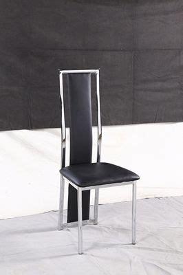 chaise blanche et chrome noir et chrome a120b electro discount fr vente 233 lectrom 233 nager