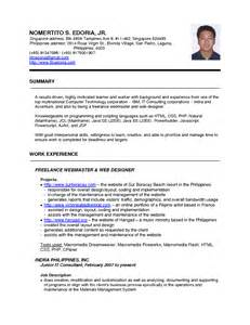 job resume template singapore