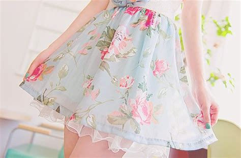 Kawaii Anime In A Floral Dress Iphone All Hp fashion flower skirt summer image 306946 on
