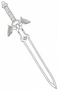sword coloring pages master sword by ighbonk on deviantart