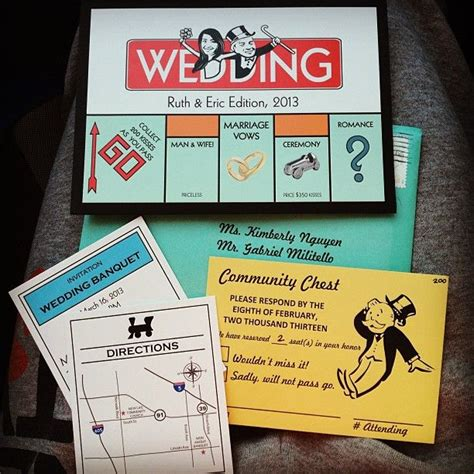 creative ways to invite wedding most creative invites i seen monopoly