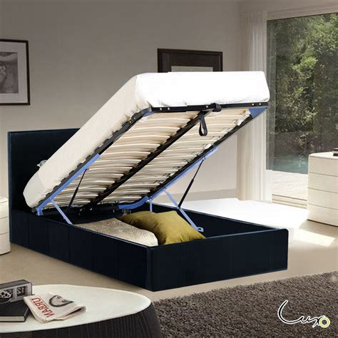 King Single Bed Frame With Storage Sabina Storage Gas Lift King Single Bed Frame Black Buy