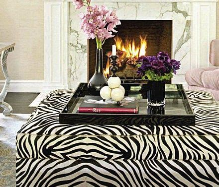 zebra ottoman decor home style