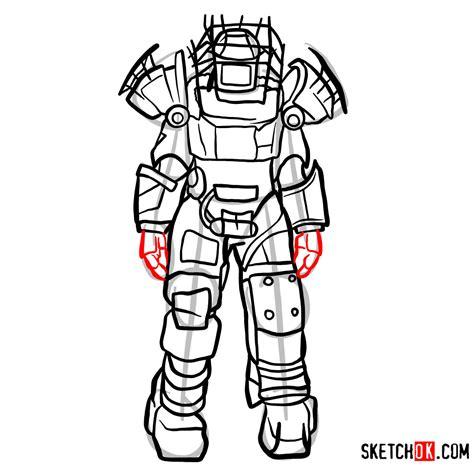 draw raider power armor fallout step  step