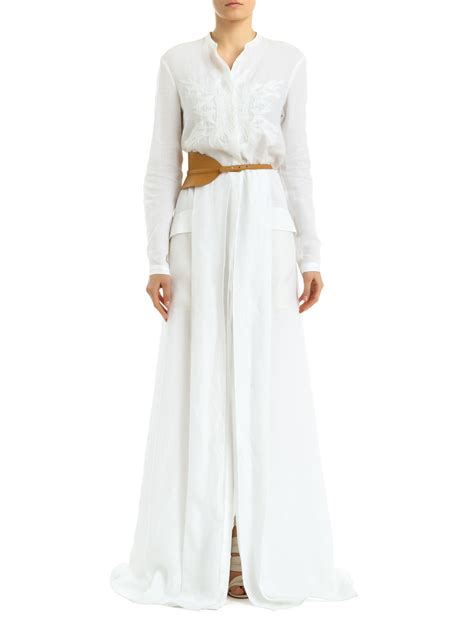 Maxi Cicilia White maiyet maxi shirt dress in white lyst