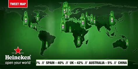 grand visual heineken launches twitter powered world map