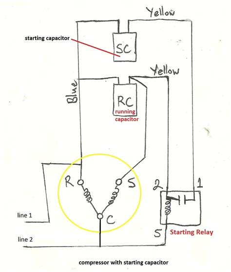 fan motor capacitor wiring diagram wiring diagram