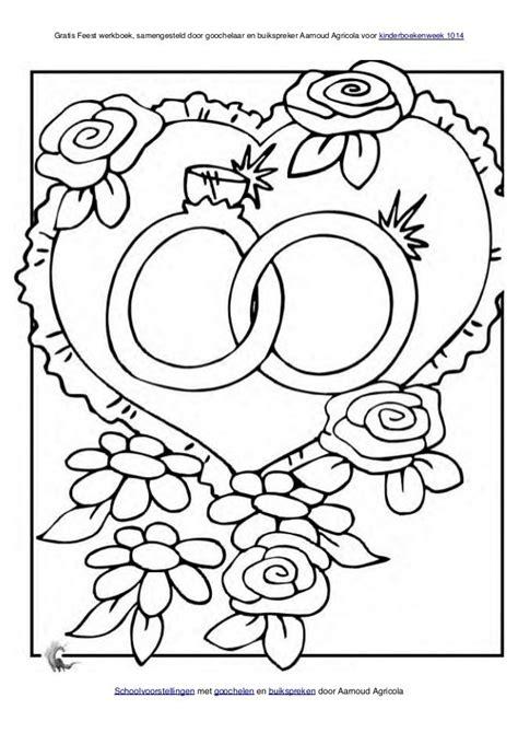 25 jaar getrouwd spelletjes kleurplaat bruiloft kleurplaten bruiloft pinterest