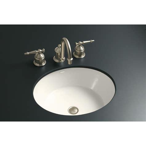 Cast Iron Bathroom Sink by Shop Kohler Iron Flute Biscuit Cast Iron Undermount