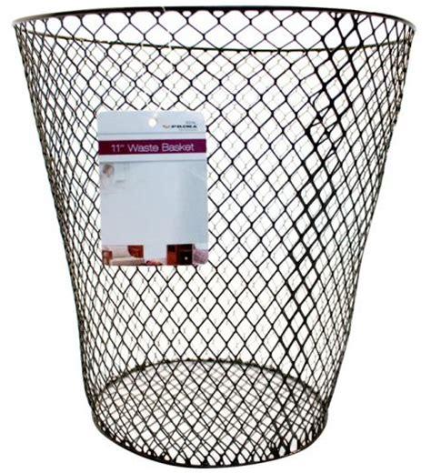 bedroom wastebasket waste basket bin wastebasket mesh wire paper round office