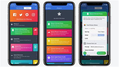 app workflow apple s workflow app updated with iphone x and ios 11