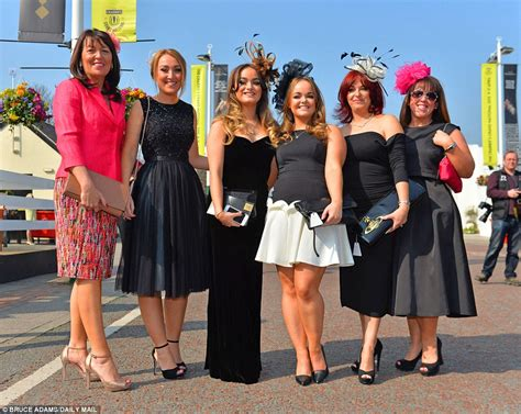 Racing Day Aintree Races Becomes A Catwalk For On Day One Of