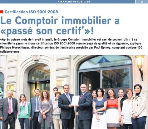 le comptoir immobilier a 171 pass 233 certif 187 optimiso