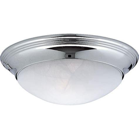 chrome flush mount light progress lighting alabaster glass collection 1 light