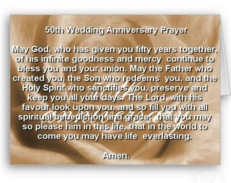 Wedding Anniversary Blessings And Prayers by Sle 50th Anniversary Prayers For Grandparents Just B