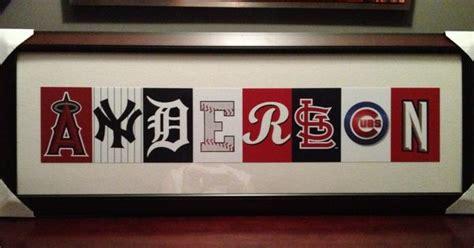 theme room names wall art for a baseball or sports theme boys room or