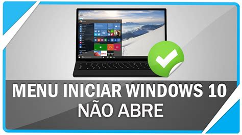 no abre imagenes windows 10 menu iniciar do windows 10 n 227 o abre resolva esse erro