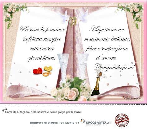 frasi auguri matrimonio sposi biglietto con frase auguri matrimonio