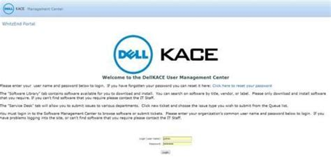 reset k1000 admin password article integrating quest password manager and the dell