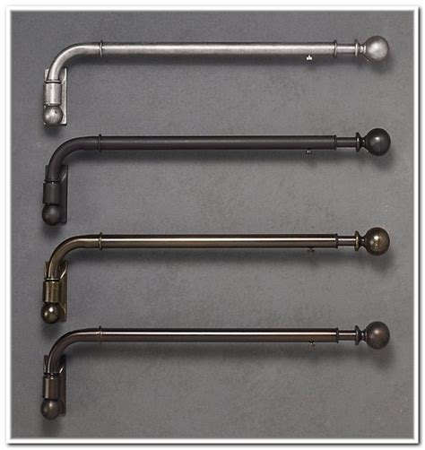 curtain swing arm rods swing arm curtain rod brackets projects to try