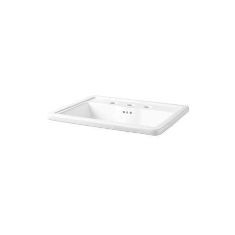 mirabelle sinks mirabelle mirkw458awh white key west 22 5 8 quot drop in bathroom sink with 3 holes drilled and