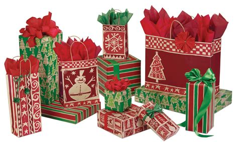 homespun christmas gift bags box and wrap