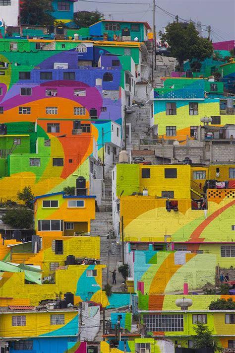 fotos el mayor mural de mexico pintado sobre las casas de