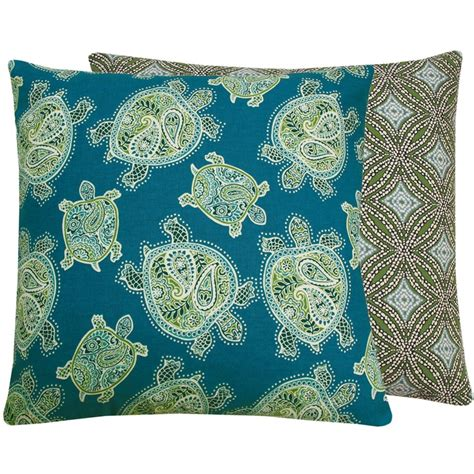 turquoise blue sea turtle decorative pillow cover 20x20