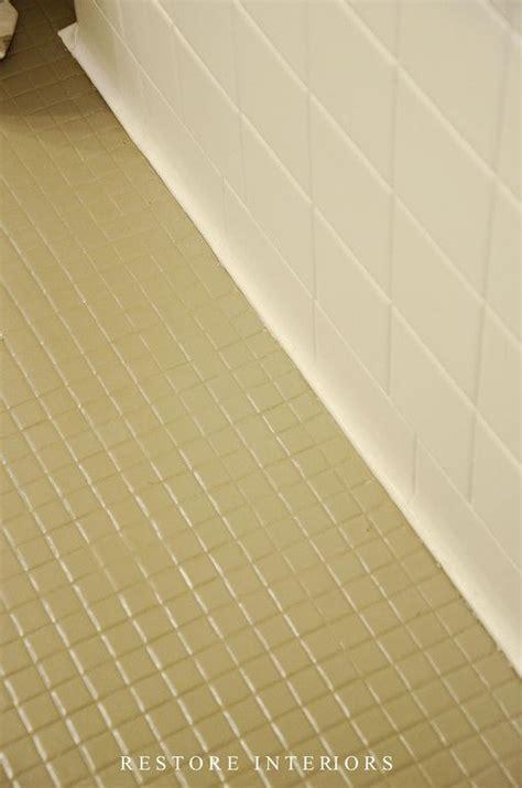 paint tile bathroom floor best 25 painted tiles ideas on pinterest painting
