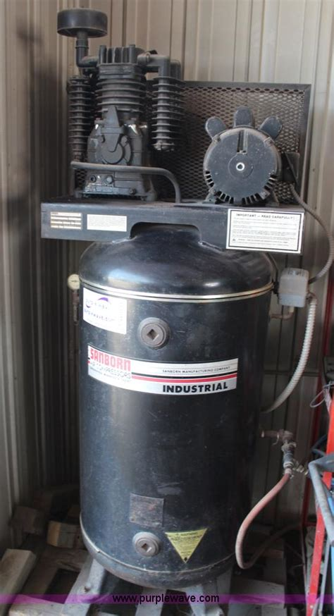 sanborn industrial air compressor no reserve auction on wednesday september 18 2013